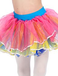 Balletröckchen und RöckeNylon Organza Tüll ElastanDamen Kinder Rock Hoch