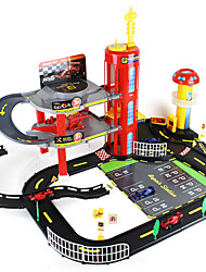 F1 car Track Rail Car Parking Garage Toy Sets Car Toys 1:60 Metal ABS Red Black Model & Building Toy