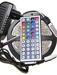 5m 3528 300 ip44 cms rgb AC 100-240V avec clé 44 télécommande jeu de lumière de bande de puissance 12v 3a