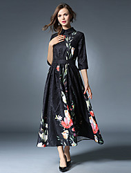 Maxlindy Women's Going out / Party/Cocktail / Holiday Vintage / Street chic /Midi Swing Dress