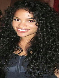 Full Lace Wig Brazilian Virgin Human Hair Kinky Curly Wig For African American Women
