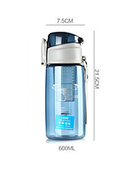 Portable water cup children leakproof cup of large capacity with cover glass sports bottle