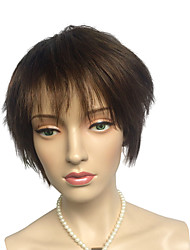 Short Women's Wig Light Brown Synthetic Fiber Cute Fashion Women's Party Wig With Bangs