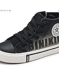 Boy's Sneakers Comfort Canvas Casual Black Blue