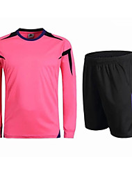 Men's Soccer Clothing Sets/Suits Breathable Comfortable Summer Patchwork Terylene Football/Soccer Green Pink Black Dark Blue Light Blue