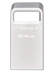Kingston dtmc3 64GB USB 3.1 unidade flash de metal ultra-compacto