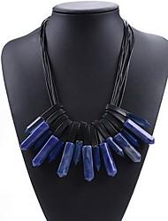 Femme Collier court /Ras-du-cou Imitation de diamant Chaîne unique Forme de Cercle Forme Géométrique CuirBasique Européen Mode