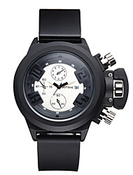 ASJ® Men's Unisex Sport Watch Fashion Watch Wrist watch Quartz Water Resistant / Water Proof Silicone Band Charm Cool Casual Black Watch