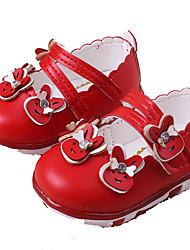 Fille-Décontracté-Rose Rouge Blanc-Talon Plat-Flower Girl Chaussures Semelles Légères-Ballerines-Polyuréthane