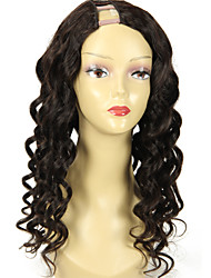 22Inch Loose Wave U part Wig 1*4Inch Right Part Upart Human Hair Wigs Natural Color 130% Density Brazilian Hair U Shaped Wig Onsale