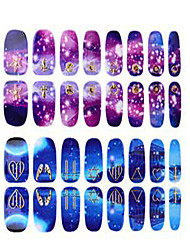 1PC 3D The Three-Dimensional The Starry Sky Nail Stick  Crown Lips The Butterfly Nails All Posted 16 Stick