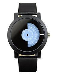 Unissex Relógio de Moda Único Criativo relógio Quartzo Lega Banda Preta marca