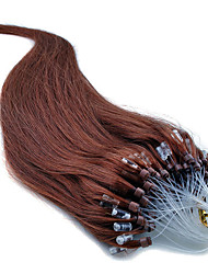 extensiones micro del pelo del lazo del anillo del pelo virginal brasileño rectas extensiones micro ring brasileños suave y lisa 40-50g /