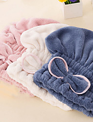 1 Pcs Superfine Fiber Dry Hair Cap Bath Cap Coral Fleece Bath Cap With Thick Princess Hat Fast Super Absorbent Dry Hair Cap Color Random