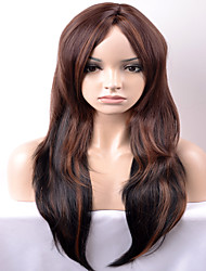 Europe and the United States in the new long section of the dark brown mixed wave wave high temperature wire wig