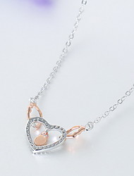 Women's Pendant Necklaces Jewelry Heart Sterling Silver Love Heart Jewelry For Daily Casual