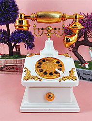 1 PC The New Vintage Antique Telephone Box Music Creative Jewelry Cabinet Home Furnishing Decorative Gift Box