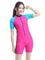 BlueDive® Mulheres Mergulho Skins Macacão de Mergulho Curto Roupas de mergulhoSecagem Rápida Resistente Raios Ultravioleta Zíper Frontal