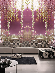 Art Deco Wallpaper For Home Wall Covering Canvas Adhesive required Mural Purple Vine Man with Floral XXXL(448*280cm)XXL(416*254cm)XL(312*219cm)
