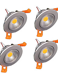z®zdm 4pcs 5w 500-550lm support dimmable led panneau blanc chaud blanc froid blanc naturel AC110V / 220v / 12v