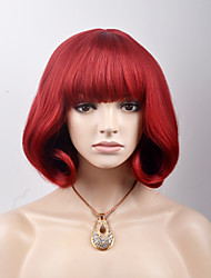 Europe and the United States new short paragraph Qi Liu Hai red pear head high temperature wire wig