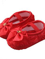 Baby-Flache Schuhe-Lässig-Seide-Flacher Absatz-Lauflern Leuchtende Sohlen-Rosa Lila Rot Weiß