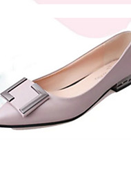 Women's Flats Spring Summer Fall Winter Comfort Light Soles PU Casual Low Heel Black Pink Gray