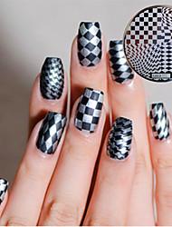 1шт ногтей искусство изображения штемпелюя плиты маникюр шаблон
