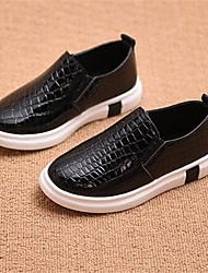 Girl's Flats Comfort PU Casual Black Brown Gray