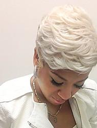 forma de onda natural natural em camadas curta capless cabelo humano perucas 2017