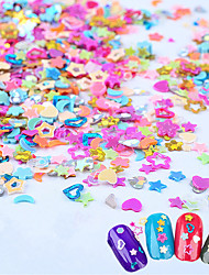 5000pcs/box Mezzling Mixed Heart Flowers Moon Glitter Nail Art Sequins 3D Hot DIY Manicure Nail Accessories Tools