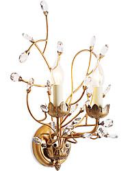 lightmyself 2 огни золота настенные светильники e12 e14 современный / современный традиционный / классический деревенский / домик страна
