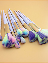 10Conjuntos de pincel Pincel para Blush Pincel para Lábios Pincel de Sombrancelha Pincel para Corretivo Escova Ventoinha Pincel para Pó