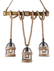 Pendant Light ,  Rustic/Lodge Vintage Retro Painting Feature for Mini Style Wood/BambooLiving Room Dining Room Study Room/Office Game