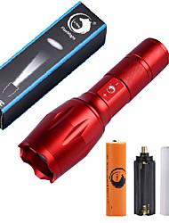 U'King ZQ-G7000-Red#5 CREE XML-T6 2000LM Portable Zoom Flashlight Torch Kit 5Modes