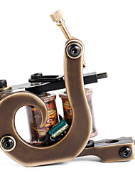 Solong Tattoo Custom Brass Tattoo Machine Gun Handmade 12 Wrap Pure Copper Coils for Liner M207-1