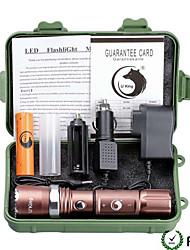 U'King ZQ-X940-EU Plug-brown CREE XML-T6 2000LM 5Mode Flashlight Torch Kit with Attack Head Self-defense Function