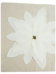 RayLineDo® Cotton Modern Stereo Creative Embroidered White Flower Pillow Case CTJZ21-PC-WFLO