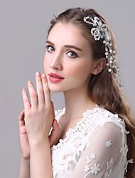 Mulheres Pérola Capacete-Casamento Ocasião Especial Bandanas Clip para o Cabelo 1 Peça