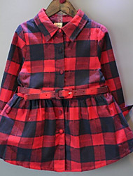 Girl's Casual/Daily Patchwork Dress,Rayon Winter Fall Long Sleeve