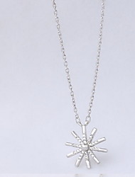 Necklace Non Stone Pendant Necklaces Jewelry Daily Casual Flower Flower Style Sterling Silver Women 1pc Gift Silver