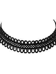 Necklace Choker Necklaces Tattoo Choker Jewelry Casual Basic Design Tattoo Style Lace 1pc Gift Black