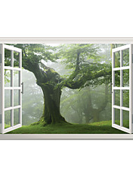 3D Wall Stickers Wall Decals Style Dark Forest Tree PVC Wall Stickers