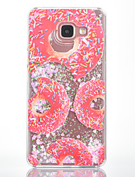 For Samsung Galaxy A7(2016) A5(2016) Case Cover Donuts Pattern Small Fresh Series Love Quicksand Flash Powder Phone Case