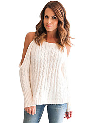 Women's Daring Cold Shoulder Cable Knit Sweater