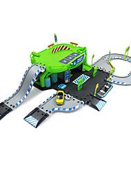 Voiture de course Parking Garage Jouet Set 1h50 ABS Plastique Vert