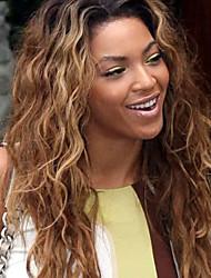 grado 9a parrucca anteriore del merletto dei capelli vergini peruviani dell'onda naturale dei capelli di due toni T1b / 27 # della