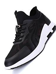 Femme-Décontracté-Noir Rouge noir-Talon Plat-Confort-Chaussures d'Athlétisme-Tulle