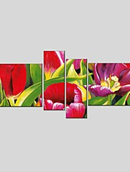 Canvas Oil Painting Set of 4 Modern Abstract Stretched Frame Ready To Hang SIZE50*70CM*2PCS 25*70CM*2PCS.