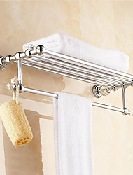 European Style Solid Brass Crystal Silver Bathroom Shelf  Bathroom Accessories